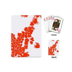 Red Spot Paint Playing Cards (Mini)