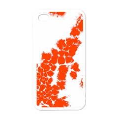 Red Spot Paint Apple iPhone 4 Case (White)