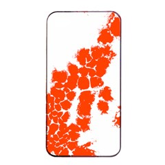Red Spot Paint Apple iPhone 4/4s Seamless Case (Black)