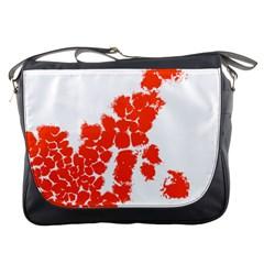 Red Spot Paint Messenger Bags