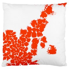 Red Spot Paint Large Cushion Case (Two Sides)