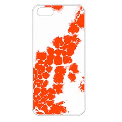 Red Spot Paint Apple iPhone 5 Seamless Case (White)