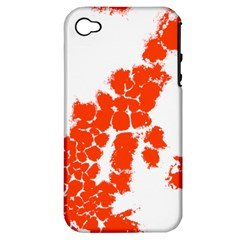 Red Spot Paint Apple iPhone 4/4S Hardshell Case (PC+Silicone)