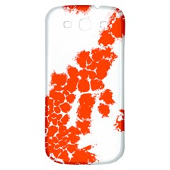 Red Spot Paint Samsung Galaxy S3 S III Classic Hardshell Back Case