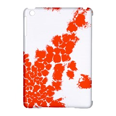 Red Spot Paint Apple iPad Mini Hardshell Case (Compatible with Smart Cover)