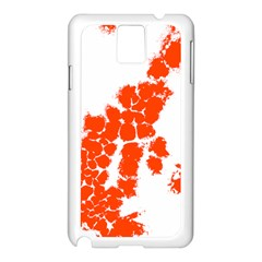 Red Spot Paint Samsung Galaxy Note 3 N9005 Case (White)