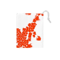 Red Spot Paint Drawstring Pouches (Small)
