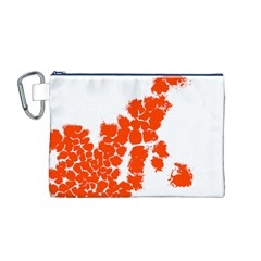 Red Spot Paint Canvas Cosmetic Bag (M)