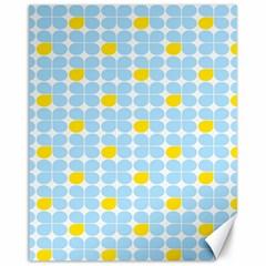 Retro Stig Lindberg Vintage Posters Yellow Blue Canvas 11  x 14