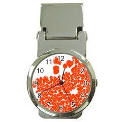 Red Spot Paint White Polka Money Clip Watches