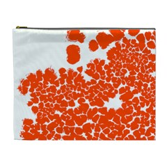 Red Spot Paint White Polka Cosmetic Bag (XL)