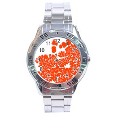 Red Spot Paint White Polka Stainless Steel Analogue Watch