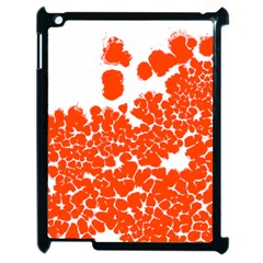 Red Spot Paint White Polka Apple iPad 2 Case (Black)
