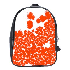 Red Spot Paint White Polka School Bags (XL)