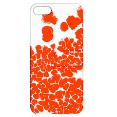 Red Spot Paint White Polka Apple iPhone 5 Hardshell Case with Stand