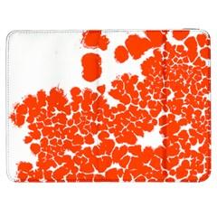Red Spot Paint White Polka Samsung Galaxy Tab 7  P1000 Flip Case