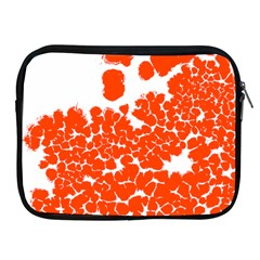 Red Spot Paint White Polka Apple iPad 2/3/4 Zipper Cases