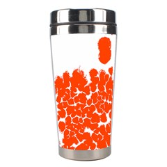 Red Spot Paint White Polka Stainless Steel Travel Tumblers
