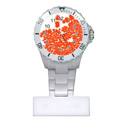 Red Spot Paint White Polka Plastic Nurses Watch