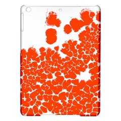 Red Spot Paint White Polka iPad Air Hardshell Cases