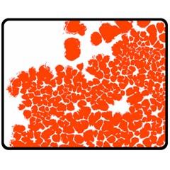 Red Spot Paint White Polka Double Sided Fleece Blanket (medium)
