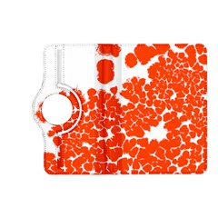 Red Spot Paint White Polka Kindle Fire HD (2013) Flip 360 Case