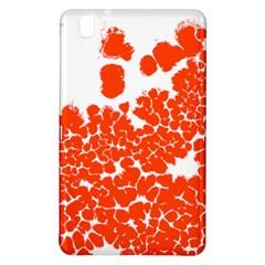 Red Spot Paint White Polka Samsung Galaxy Tab Pro 8.4 Hardshell Case