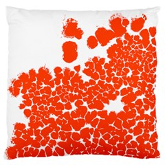 Red Spot Paint White Polka Standard Flano Cushion Case (One Side)