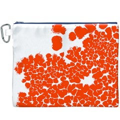 Red Spot Paint White Polka Canvas Cosmetic Bag (XXXL)
