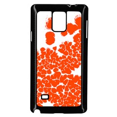 Red Spot Paint White Polka Samsung Galaxy Note 4 Case (Black)