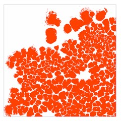 Red Spot Paint White Polka Large Satin Scarf (Square)