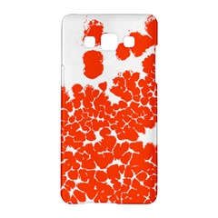 Red Spot Paint White Polka Samsung Galaxy A5 Hardshell Case