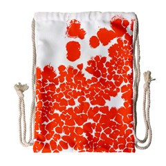 Red Spot Paint White Polka Drawstring Bag (Large)