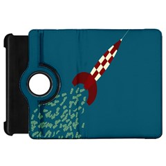 Rocket Ship Space Blue Sky Red White Fly Kindle Fire HD 7