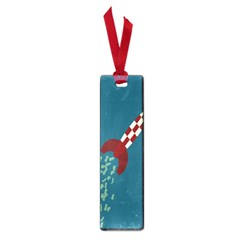 Rocket Ship Space Blue Sky Red White Fly Small Book Marks