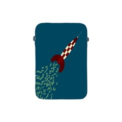 Rocket Ship Space Blue Sky Red White Fly Apple iPad Mini Protective Soft Cases