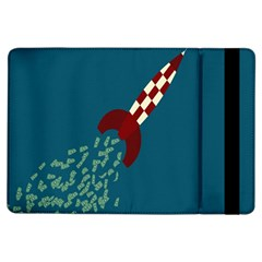 Rocket Ship Space Blue Sky Red White Fly iPad Air Flip