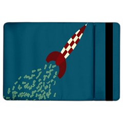 Rocket Ship Space Blue Sky Red White Fly iPad Air 2 Flip