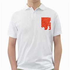 Red Spot Paint White Golf Shirts