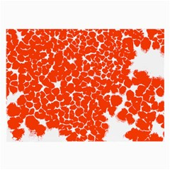 Red Spot Paint White Large Glasses Cloth (2-Side)
