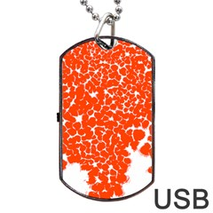 Red Spot Paint White Dog Tag USB Flash (Two Sides)