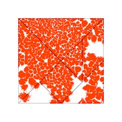 Red Spot Paint White Acrylic Tangram Puzzle (4  x 4 )