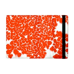 Red Spot Paint White Apple Ipad Mini Flip Case
