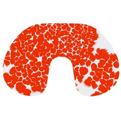 Red Spot Paint White Travel Neck Pillows