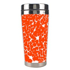 Red Spot Paint White Stainless Steel Travel Tumblers