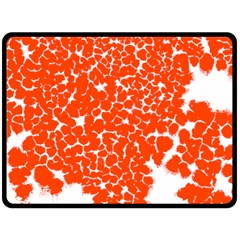 Red Spot Paint White Double Sided Fleece Blanket (Large)