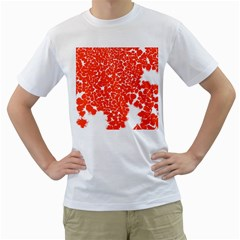 Red Spot Paint White Men s T Shirt (white)