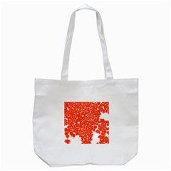 Red Spot Paint White Tote Bag (White)
