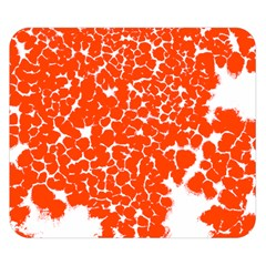 Red Spot Paint White Double Sided Flano Blanket (Small)