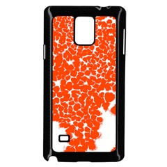 Red Spot Paint White Samsung Galaxy Note 4 Case (Black)